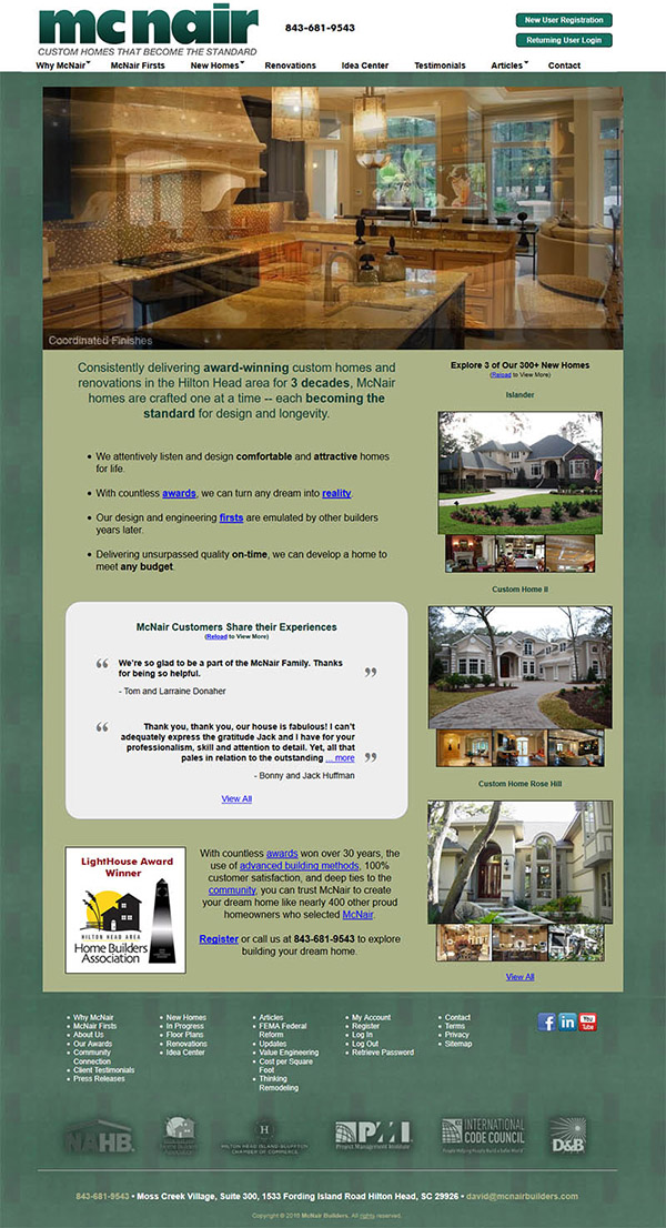 Custom Home Builder Web Site