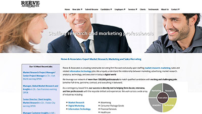 Professional Staffing Website